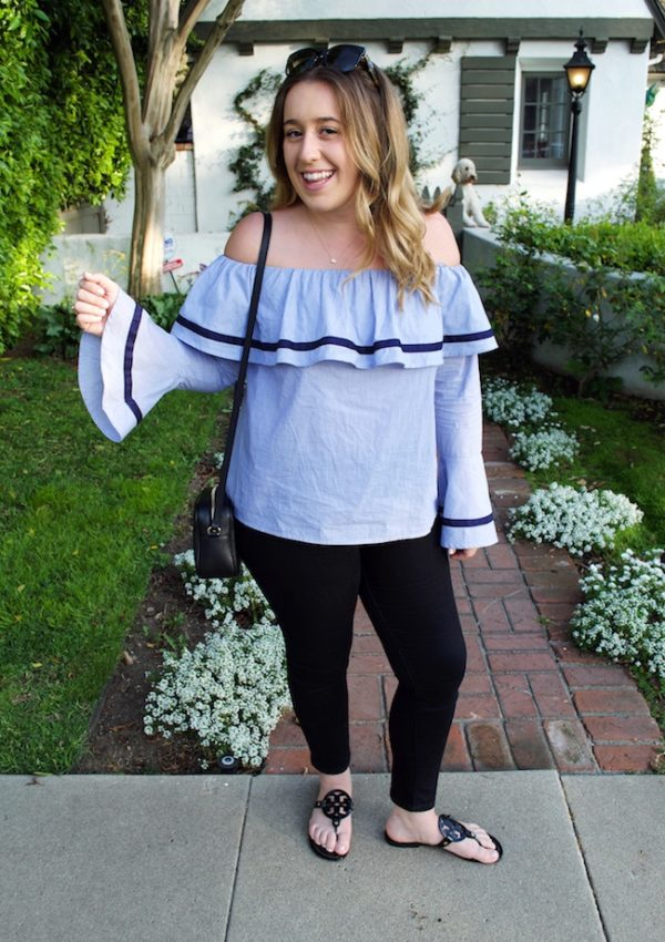 Ruffle and a Bell Sleeve
